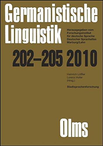 Stadtsprachenforschung - Ein Reader: 2 Bände. (Germanistische Linguistik)