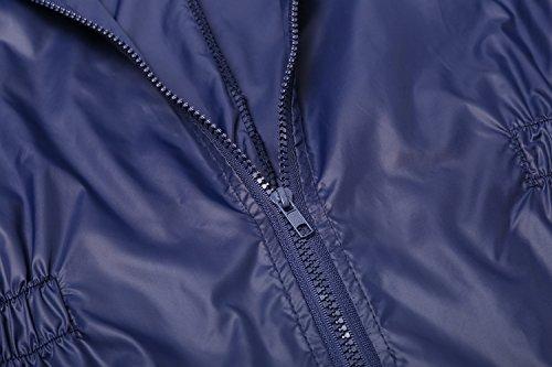 ZEARO Damen Regenmantel Regenjacke Trenchcoat Wasserdicht Parka Regencape Regenponcho (EU 52-54/(Asian XXL), Marineblau) -