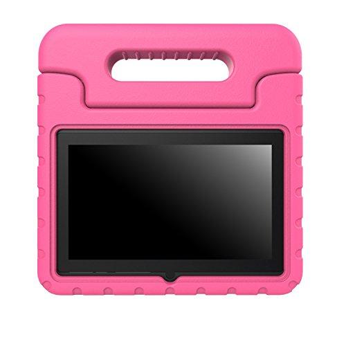 """MoKo Dragon Touch Y88X / JYJ 7 Zoll Hülle - Superleicht EVA Stoßfest Kinder Schutzhülle mit umwandelbarer Handle/Stand für JYJ Android Google 7"""" Tablet PC, Dragon Touch Y88X 7"""" und Yuntab Q88 7"""", Magenta"""
