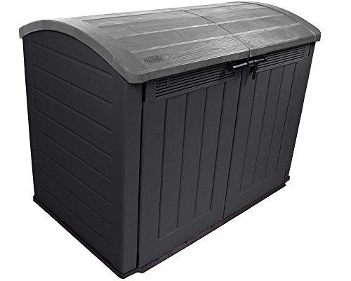Keter Mülltonnenbox Fahrradgarage Ultra Gerätebox Gartenbox Gartenschuppen XXL (Anthrazit / Grau) - 4