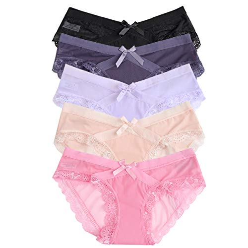 Yidarton Hose Pack Damen Spitze Wäsche Dessous Verführerisch String Fit Lingerie Soft Tange Thong Underwear Set