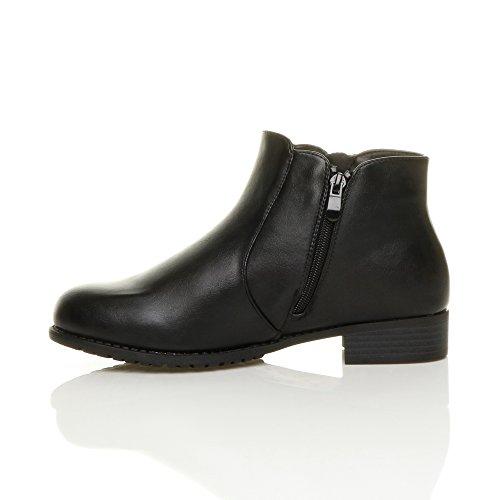 dor zip chelsea bottes noir déquitation pointure Femmes Mat bottines bas talon ITwqtnPEx6