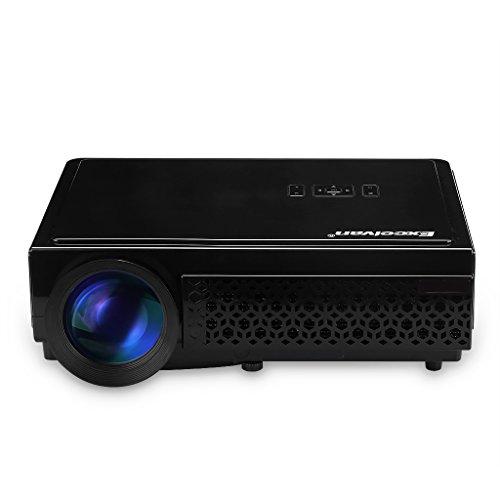 Excelvan 96+ Videoproiettore Portabile (3000 Lumens 1280x800 HD Home Theater con 5.8