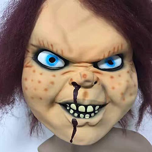 DY Ghostbusters Film Prop Chigi Puppe Latex Maske Halloween Bar Abschlussball Horror Geist Abdeckung Chagi Ghiva Kopf Set (Ghostbusters Kostüm Brille)