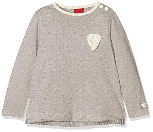 s.Oliver Baby-Mädchen 65.808.31.8153 Langarmshirt, Grau (Light Grey Melange 9400), 86