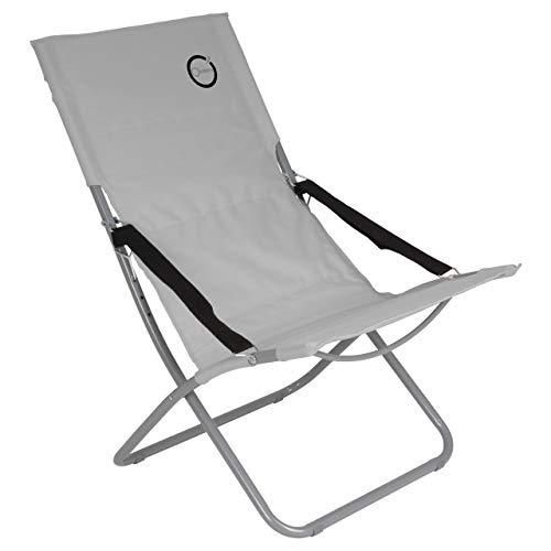 Klappbare Stahlrohr-stühle (Nexos Campingstuhl klappbar Stahlrohr Gartenstuhl bis 110 kg abwaschbar pflegeleicht 80x60x92 cm 600D Farbe wählbar (Grau))