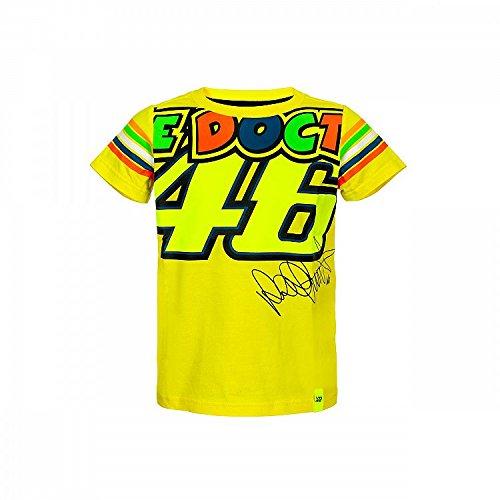 Valentino Rossi Vrkts307901004, Maglia Bambibo, Vr46 Bambino, Yellow, 4-5 Years 69 cm/27In Chest