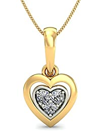 Belle Diamante 18KT Yellow Gold and Diamond Pendant
