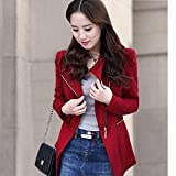 THE LONDON STORE Women's Autumn Spring Women's Blazer Elegant Office Work Blazers Fashion Lady Coat Suits Female Slim Jacket Suit Red Lining