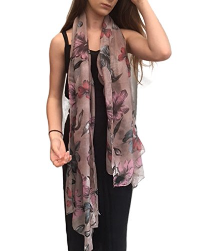 - 41eBk9ZkEsL - TOSKATOK® Ladies' Women's Fashion print scarves wraps neck shawls. Huge range of prints and colours from UK seller.