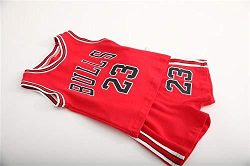 CHUANG Kind, Jugend Und Sport Jersey Kit - # 23 Michael Jordan Bulls/Lakers Kobe Bryant # 24 / Kanada Raptors Leonard # 2 / Baby Jungen Und Mädchen Basketball-Fans