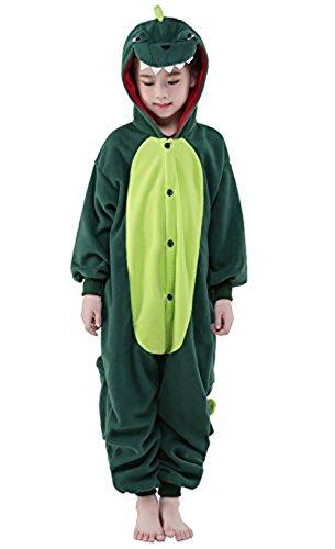 ABYED® Jumpsuit Tier Karton Fasching Halloween Kostüm Sleepsuit Cosplay Fleece-Overall Pyjama Schlafanzug Erwachsene Unisex Lounge,Chidren Größe 95 - für Höhe: 103-115cm (Halloween Kostüm Herren Dinosaurier)