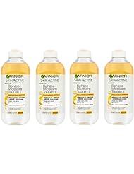 Garnier Skin Active Biphase Micellaire Tout En 1 Maquillage Tenace/Waterproof Grand Format 400 ml - Lot de 4