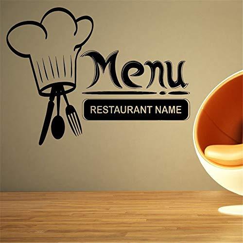 etiqueta de la pared etiqueta de la pared decoración Restaurante personalizado nombre menú signo logotipo de la pared para el fondo del restaurante