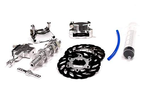 Integy RC Model Hop-ups BAJ178SILVER Billet Machined Type III Hydraulic Front Brake System for HPI Baja 5B, 5T, 5B2.0