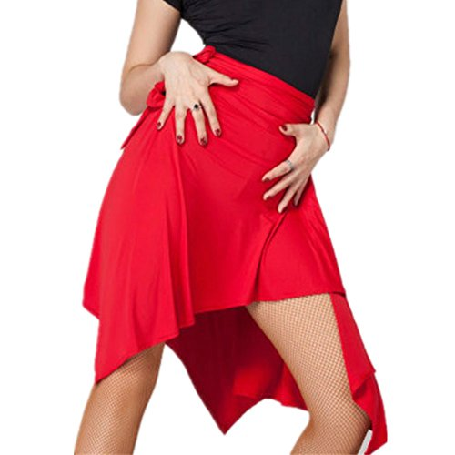 YOUMU Frauen Ballsaal Latein Salsa Tango Dance Rock Kleid Skate Wrap Schal Dancewear (Skate-kleidung)