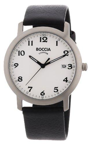 Boccia Herren-Armbanduhr Leder 3618-01