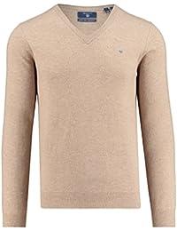 GANT Herren Pullover Extra Fine Wool V-Neck
