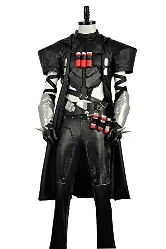 cosplayfly Erwachsene OW Hero Reaper battleframe Cosplay Kostüm für Erwachsene (Version A & Version B) Gr. Männlich M, As photos (Custom Hero Kostüme)