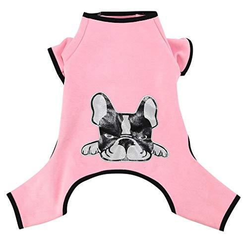 Xmiral Abbigliamento per Cani con Cappuccio Felpa Calda Felpa con Cappuccio Rosa XL