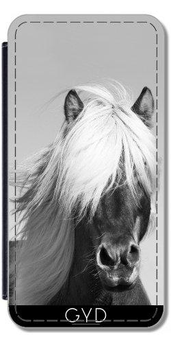 Leder Flip Case Tasche Hülle für Apple iPhone 6/6S - Pferd In Scotish Hochland by Petra Lederoptik