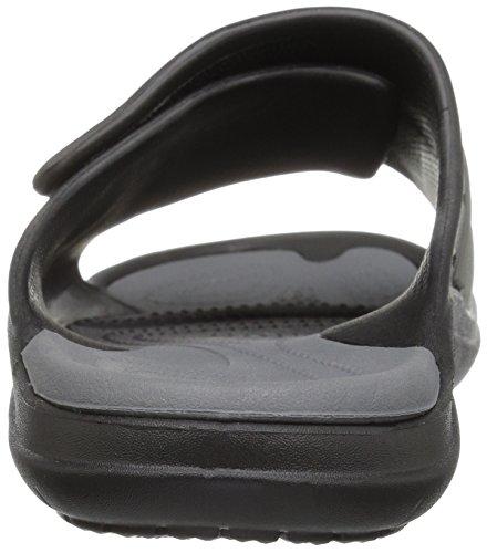 crocs Unisex-Erwachsene Modi Sport Slide Zehentrenner Schwarz (Black/Graphite)