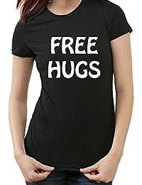 Free Hugs Fun T-Shirt, XXL, Ladies schwarz