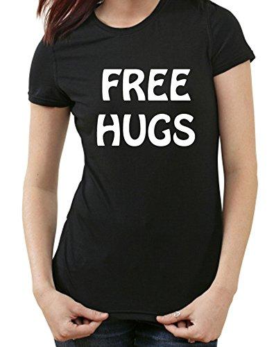 Free Hugs Fun T-shirt Nero Ladies L