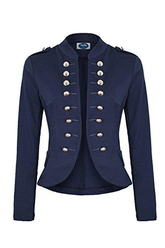4tuality Massimo Military Blazer Marine Slim fit, Gr.S