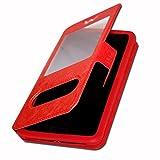 Etui Housse Coque Folio rouge pour Samsung Wave 3 S8600 by Ph26