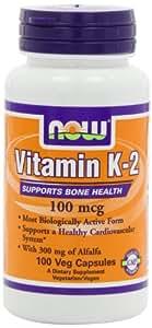 Now Foods- Vitamine K-2- 100 mcg- 100 capsules
