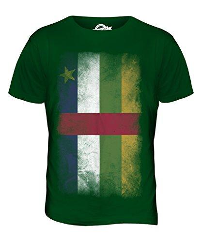 CandyMix Zentralafrikanische Republik Verblichen Flagge Herren T Shirt Flaschengrün