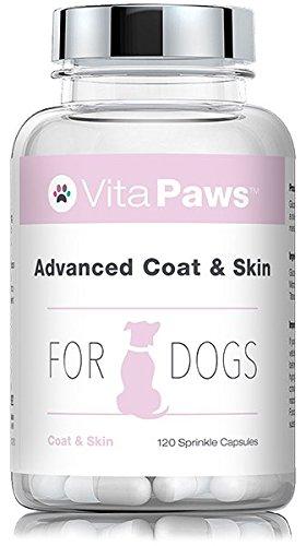 VitaPaws Neubildung von Fell und Haut bei Hunden │ 120 Streukapseln
