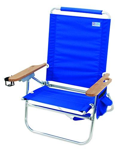 Rio Marken Beach Bum Strand Stuhl, blau (Stuhl Rio Rucksack)