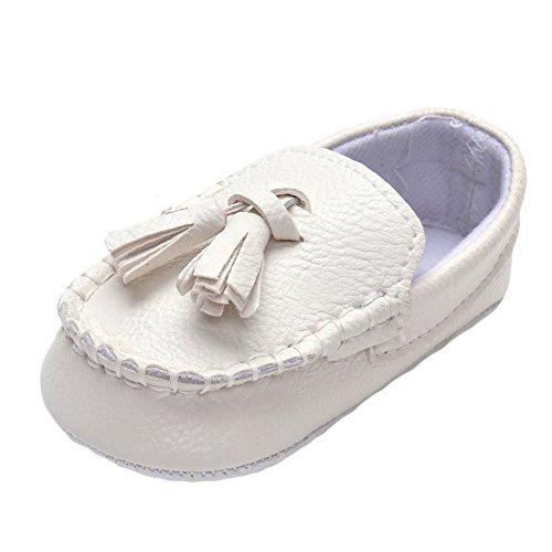 Baby Mädchen Jungen Taufe Waschung Hochzeit Party Weiß Schuhe 12-18 Monate