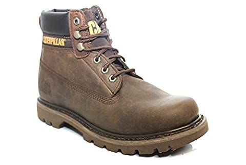 Caterpillar Colorado Femme - Caterpillar Colorado Mens Leather Boots Dark Brown