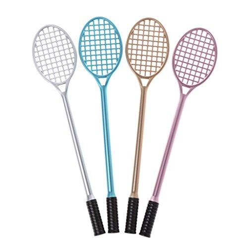 Fysless Gel-Stift, 1 Stück, feine Spitze, 0,38 mm, kreatives Badmintonschläger-Form, Gel-Tintenstift, Dekoration, Schreibwaren, Geschenk