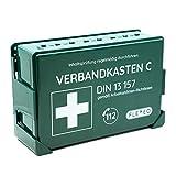 Betriebsverbandkasten, Verbandskasten gefüllt für Betriebe in grün mit Wandhalterung für Wandmontage ( nach DIN 13157 gemäß ASR )