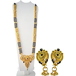 Radhekrishna Golden Alloy Mangalsutra Set For Women