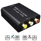 AV a HDMI,GANA Convertitore RCA a HDMI Adattatore Supporta 1080P con Cavo USB per PC/Laptop/Xbox/PS4/PS3/TV/STB/VHS/VCR/Fotocamera/DVD
