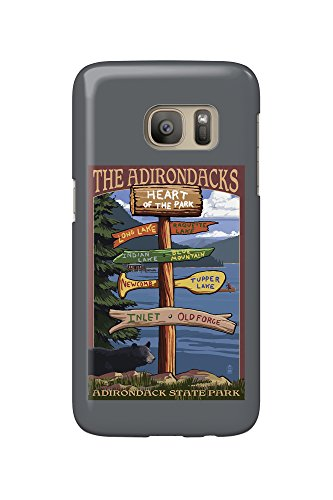 The Adirondacks - Adirondack State Park, New York - Destination Signpost (Galaxy S7 Cell Phone Case, Slim Barely There)