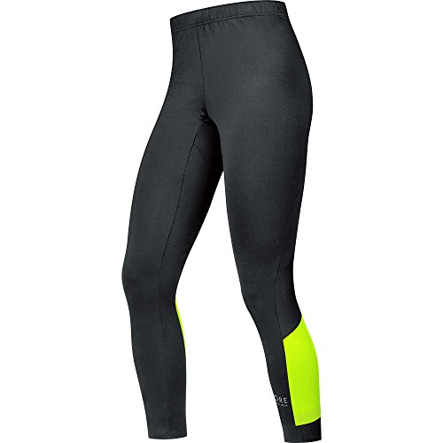 GORE RUNNING WEAR Mallas 7/8 de Hombre para correr, Transpirable, GORE Selected Fabrics, AIR Tights 7/8, Talla S, Negro/Amarillo neón , TAIRTI990803