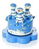 Mousehouse Gifts Carillon per bambini a tema Pirata Blu che suona Regalo ideale per il battesimo di un bambino appena nato