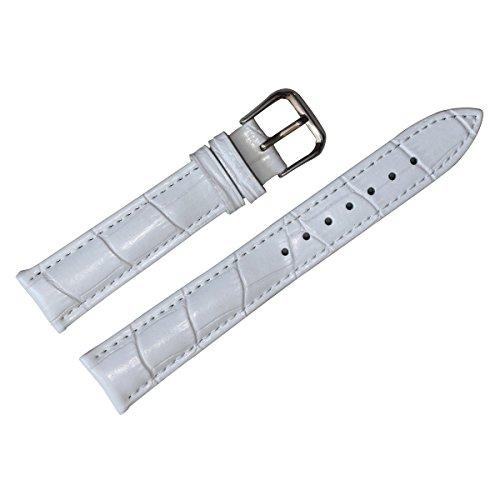 Autulet 16mm Leder Uhrenarmband Damen Weiß
