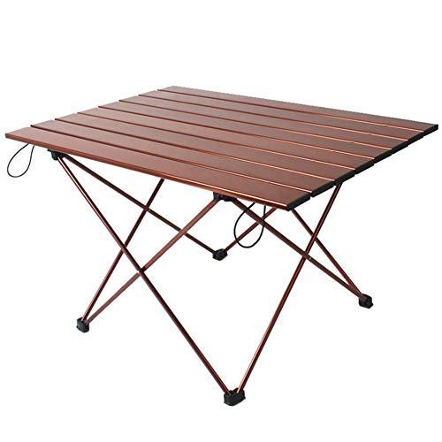 Table Pliante en Alliage D'aluminium Table De Barbecue Portable Pique-Nique Loisirs Table De Camping À Conduite Autonome