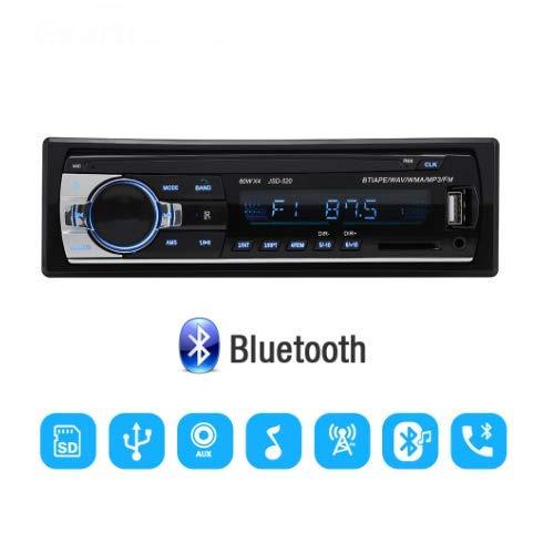 CBTJ Autoradio-Stereo-Player Digitaler Bluetooth-Autoradio-MP3-Player 60Wx4 FM-Radio-Stereo-Audio mit In-Dash-AUX-Eingang Freisprechen