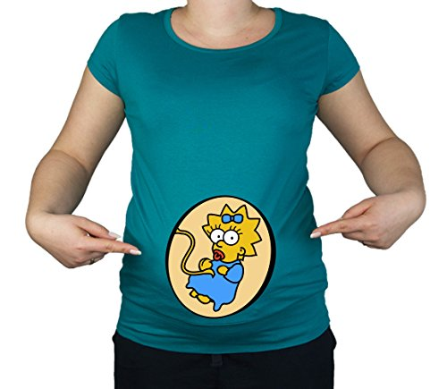 Colour Fashion Damen T-Shirt, mehrfarbig (T-shirt Mom Maternity)