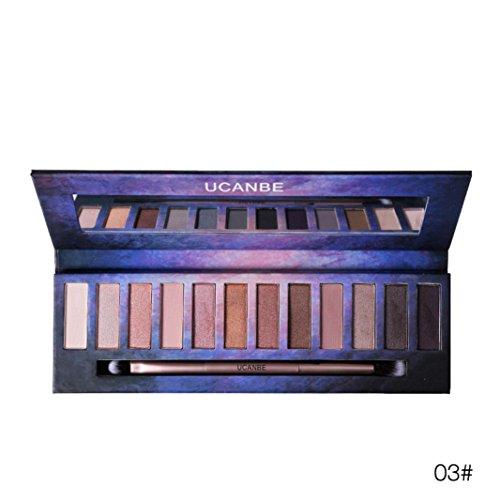 Quick Eyes Cream Shadow (Sansee Damen Kosmetikpulver Smoky Lidschatten Palette Make-up Set (12 Farbenaugen Lidschatten, C))