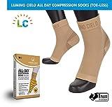 Lumino Cielo All-Day Compression Socks (toe-less, Sleeve Style) for Heel Pain & Plantar