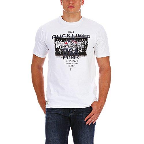 RUCKFIELD–T-Shirt USA Rugby weiß–weiß Gr. XXXL, Weiß - weiß